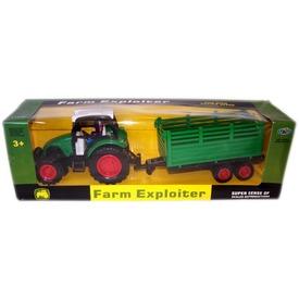 Farm Exploiter traktor utánfutóval - 34 cm
