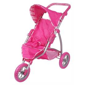 Háromkerekű sport babakocsi - rózsaszín