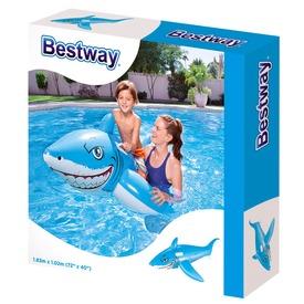 Bestway 41032 Fehér cápa lovagló - 185 x 102 cm