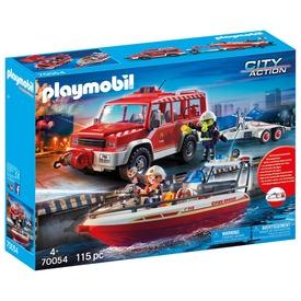 Playmobil Tűzoltóautó mentőcsónakkal 70054