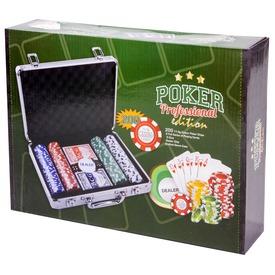 Póker 200 darabos készlet alumínium bőröndben