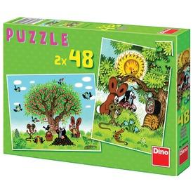 Kisvakond nyaral 2 x 48 darabos puzzle