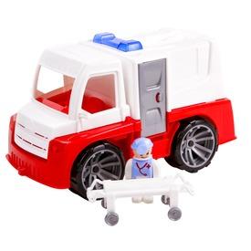 Műanyag mentő teherautó - 28 cm