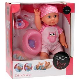 Baby Rose pisilő baba - 35 cm, többféle