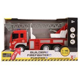 Kosaras tűzoltóautó fénnyel és hanggal - 1:16 Itt egy ajánlat található, a bővebben gombra kattintva, további információkat talál a termékről.
