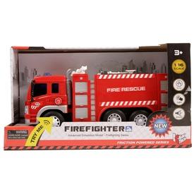 Fecskendős tűzoltóautó fénnyel és hanggal - 1:16 Itt egy ajánlat található, a bővebben gombra kattintva, további információkat talál a termékről.