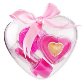 Sminkkészlet szív alakú dobozban
