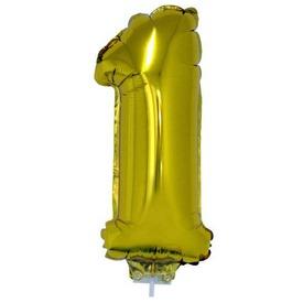 Számos lufi - 1, arany, 42 cm