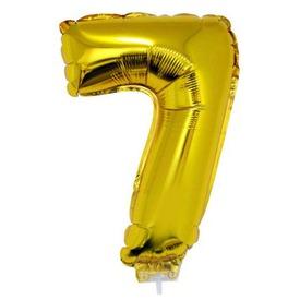 Számos lufi - 7, arany, 42 cm