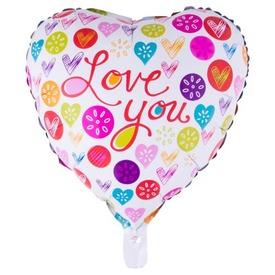Love You fólia lufi - 46 cm