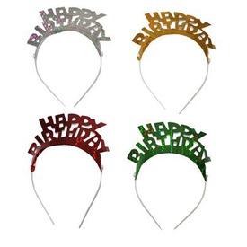 Happy Birthday fejdísz 4 darabos készlet