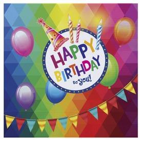 Happy Birthday szalvéta 20 darabos - 33 x 33 cm