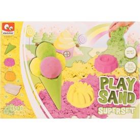 Fagyi és sütikészítő - sárga, zöld és rózsaszín homok