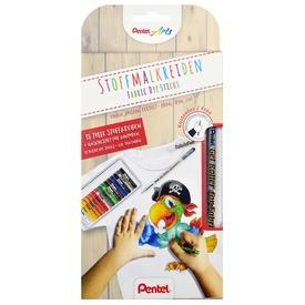 Textilre író zselés toll 15 db-os textilkrétával