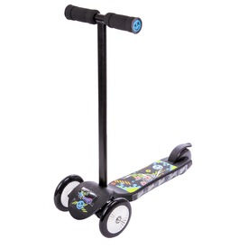 Junior Twist háromkerekű roller - fekete