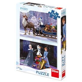 Jégvarázs karácsony 2 x 77 darabos puzzle