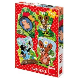 Kisvakond 4 x 12 darabos puzzle