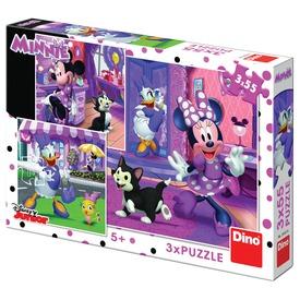 Egy nap Minnie egérrel 3 x 55 darabos puzzle