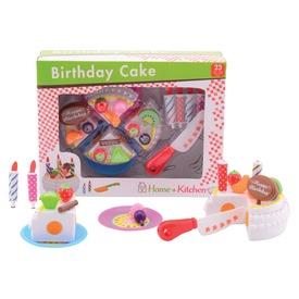 Vágható szülinapi torta készlet - 23 cm