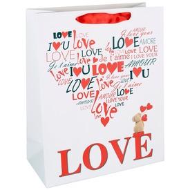 Papírtasak - Love 18 x 23 cm