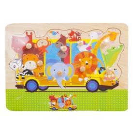 Fa puzzle 29, 5x21, 8x0, 8 cm, állatok