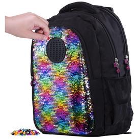 Pixie - Simogatós fekete hátizsák, 69 pixellel