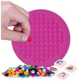 Pixie kerek öntapadós mozaiklap, rózsaszín, 69 pixellel