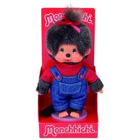Monchhichi lány figura nadrágban - 20 cm