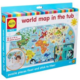 Alex Tapassz a csempére világtérkép