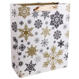 Papírtasak arany-fekete hópihék 2632