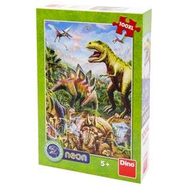 Puzzle 100 db XL - Dínók világa