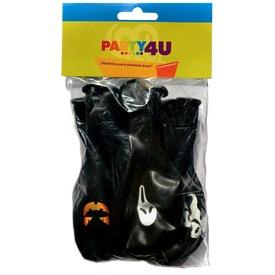 Halloween lufi 10 darabos készlet - fekete, 30 cm