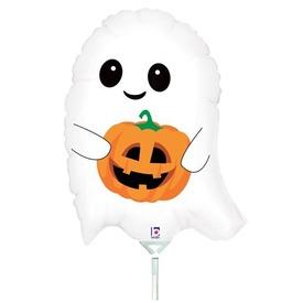 Halloween kísértet tökkel lufi - 35 cm