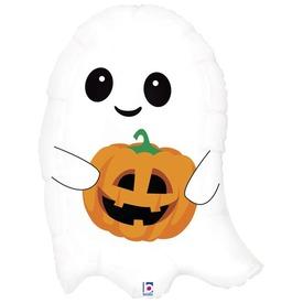 Halloween kísértet tökkel lufi - 66 cm