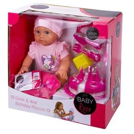 Baby Rose születésnapos baba - 32 cm