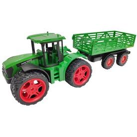 Lendkerekes traktor utánfutóval
