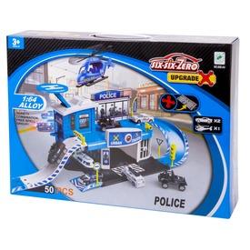 Rendőrségi parkolóház és helikopter leszálló 2 db kisautóval