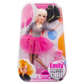 Emily divatbaba kiegészítőkkel, 30 cm