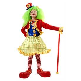 Bohóc lány jelmez szoknyával - 120-130-as méret