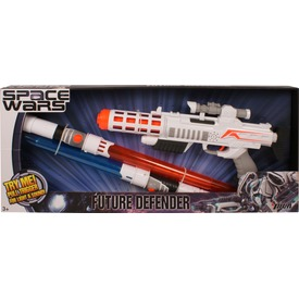 Space Wars világító lézerpuska és fénykard készlet