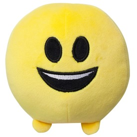 Imoji plüss labda - mosolygó, 11 cm