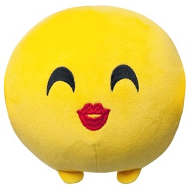 Imoji plüss labda - csókot dobó, 11 cm