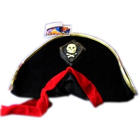 Kalóz kalap piros kendővel