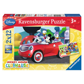 Puzzle 2x12 db - Mickey, Minnie és barátaik