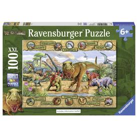 Puzzle 100 db - Dinoszauroszok