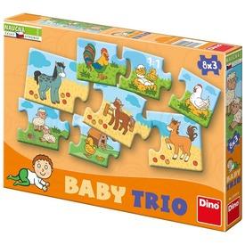 Állat család 8 x 3 darabos bébi puzzle
