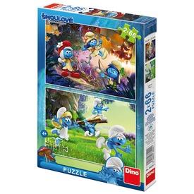 Hupikék törpikék 3 - 2 x 66 darabos puzzle