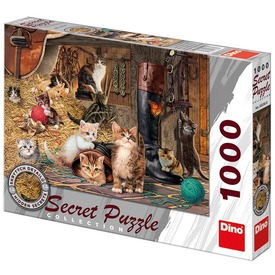 Cicák 1000 darabos titkos puzzle