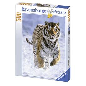 Puzzle 500 db - Tigris a hóban