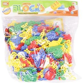 Műanyag fűzős ügyességi 160 darabos játék
